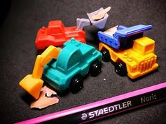 Erasers (Vehicles Collections) (tomquah) Tags: macromondays erasers tomquah macros fun huaweimate9 daisoerasers