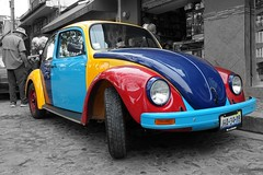 VW with anti-theft paint (posterboy2007) Tags: vw paint colours antitheft ajijic mexico street car