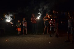 Playing With Sparklers (Joe Shlabotnik) Tags: july2018 carolina higginsbeach sue 2018 maine dylans andrew everett sparklers gabriella margaret afsdxvrzoomnikkor18105mmf3556ged