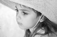 pensive France (ichauvel) Tags: portrait portraitfillette littlegirl regard eyes streetportrait portraitderue chapeau hat pensive thinking jolie cute lovely france fréjus var provencealpescôtedazur europewesterneurope cadrageserré noiretblanc blackandwhite