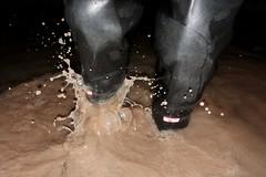Fun! (essex_mud_explorer) Tags: uniroyal century rubber thigh boots waders hip thighboots thighwaders rubberboots rubberlaarzen gummistiefel cuissardes watstiefel water wading paddling splashing splash