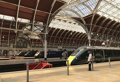 Rivalry II (Aaron Ubasa) Tags: intercityexpresstrain intercity125 class43 class800 publictransport public transport railroad railway train rail londonpaddington london paddington greatwesternrailway gwr