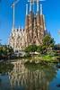 Sagrada Família (nzfisher) Tags: sagradafamília church building architecture water reflection crane travel holiday construction barcelona spain sky tower gaudi gothic 24mm canon