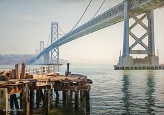 Compare & Contrast (buffdawgus) Tags: california sanfranciscobay treasureisland sanfrancisco bridge landscape leftcoast westcoast canonef24105mmf4lisusm topazsw lightroom6 canon5dmarkiii sanfranciscooaklandbaybridge