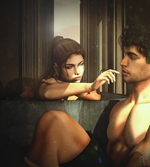 You are my definition of perfection... (trendyandcoffee) Tags: secondlife sl art artist edit photoshop love inlove girl couple bath morning lights warm