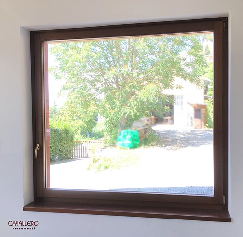 Finestra in legno Linea Area 1 anta vista interna