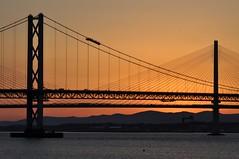 Forth Bridges Sunset (robert55012) Tags: forthbridges forthroadbridge queensferrycrossing firthofforth scotland queensferry frb sunset