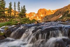 Indian Peaks Wilderness Area, Colorado. (mnryno) Tags: beautifulearth sunrise river peaks mountains colorado waterfall