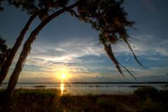 Myakka Lake Sunset (ap0013) Tags: myakkalake myakkariver statepark sarasotaflorida sunset lake myakka river state park fl fla landscape water nature