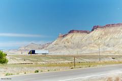 Book Cliffs, near Grand Junction, Colorado (StevenM_61) Tags: landscape cliff escarpment freeway interstatehighway grandjunction colorado unitedstates