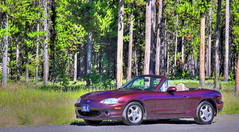 M_1-FX_s (Guyser1) Tags: mazda miata mx5 westyellowstone canoneos7d hdr vehicle roadster car