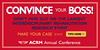 Convince your boss! Attend the ACRM Annual Conference
