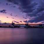 Sunset over the Edmonds Ferry, Edmonds, Washington thumbnail
