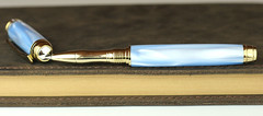 Pearl Sky Blue Fountain Pen - Rollerball Nib (BenjaminCookDesigns) Tags: fountainpen custom bespoke engraved personalised classic vintage artdeco style gift birthday christmas fpgeeks fpn giftforhim giftforher füllfederhalter