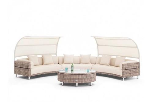 Rattan Furniture-luxor pienza modular set