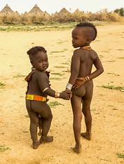 Hamar Kids (Rod Waddington) Tags: africa african afrique afrika äthiopien ethiopia ethiopian ethnic etiopia ethnicity ethiopie etiopian omovalley outdoor omo omoriver hamar hamer tribe traditional tribal kids children huts
