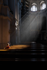 Rays of light (martinpmayer) Tags: streetphotography dresden street licht light sun strahlen rays church