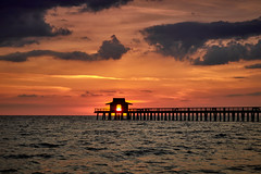 Gulf sunset (Explored July 18) (another_scotsman) Tags: naples florida sunset seascape beach shore pier sky