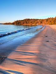Evening patterns (elphweb) Tags: hdr highdynamicrange nsw australia seaside sea ocean water beach sand sandy brouleeisland island wave waves