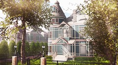 Hyde Park Victorian (Alexa Maravilla/Spunknbrains) Tags: schultzbros sways heart happymood botanical {anc} secondlife sl home architecture victorian mansion outdoors building
