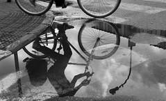 Riders in the sky (ido1) Tags: ride rieder bike bycicle sky pond reflection street telaviv