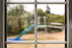 Why did I bother to clean this window? (mikeyp2000) Tags: garden clean dirty mud window frame pane