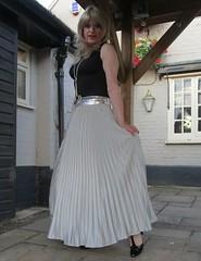 Nice Comments :-) (Amber :-)) Tags: long silver sunray pleated skirt tgirl transvestite crossdressing