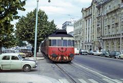 CP 0300 class (Allan), Coimbra to Coimbra-Parque-Lousã Line, 1973 (filhodaCP) Tags: comboiosdeportugal allan lousã cp railcar automotora coimbra ramaldalousã portugaltrains portugal railways serpins