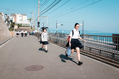 Run to your bright future (postboxes) Tags: people japan kamakura girl japanese