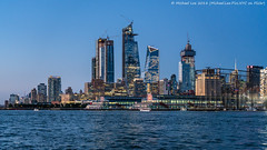 Chelsea Piers and Hudson Yards (20180718-DSC04713) (Michael.Lee.Pics.NYC) Tags: newyork hudsonriver circleline water river chelseapiers hudsonyards manhattanwest starrettlehighbuilding night twilight bluehour architecture cityscape skyline construction sony a7rm2 fe24105mmf4g