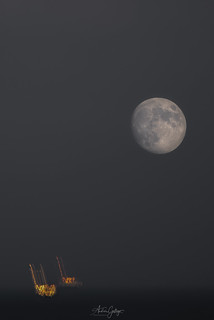 Double exposure with the moon. A test for the coming eclipse.