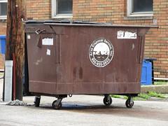 Area Disposal Service Dumpster (TheTransitCamera) Tags: areadisposalservice 2yd bin waste rubbish garabage container wheeliebin champaign illinois city urban