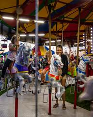 Riding the Merry-Go-Round (WayNet.org) Tags: wayne county fair indiana poor jack 4h midway ride richmond waynetorg amusements fairgrounds 4hfair poorjack waynecountyfair waynecounty