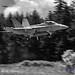 B&W of VAQ-129 VIKINGS' GROWLER FALLING TOWARDS OLF