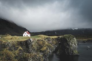 Lonely cottage in Arnarstapi, Iceland
