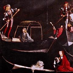 Venise - Détail d'un tableau du XVI° siècle. Gondoles et gondoliers. (Gilles Daligand) Tags: venise detail tableau xvi° peinture gondoles gondoliers renaissance