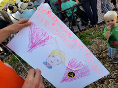 Donald Trump, children belong to their parents (quinn.anya) Tags: sign donaldtrump drawing words