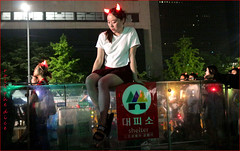 `2330 (roll the dice) Tags: southkorea korea korean seoul asian mad sad fun funny people red fashion colour streetphotography russia classic art night crowd busy surreal portrait strangers candid urban hoilday unaware travel unknown canon tourism devils tourists 광화문광장 fareast hanriver won hot weather glow lights hangul 서울시 drinking eat emotion shelter sit horny pretty sexy girl legs sport football nike glass magic worldcup