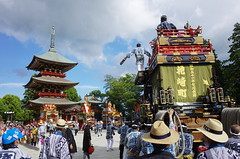 Narita Gion Festival (seiji2012) Tags: 成田山 新勝寺 大本堂 神輿還御式 山車 三重塔 narita japan chiba festival floral temple pavilion tower