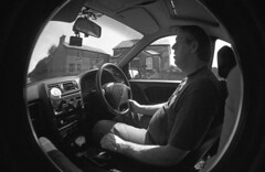 img018 (welshdude1991) Tags: lomography bw cats fisheye ilford 35mmfilm pov pointofview cars