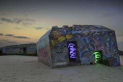 Capbreton (Lowplainstu) Tags: seascape beach evening sunset sand blocaus capbreton landes atlantic