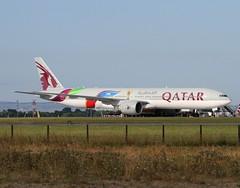 Qatar Airways                                     Boeing 777                                  A7-BAX (Flame1958) Tags: 5902 qatar qatarairways qatarb777 a7bax fifa worldcup fifaworldcup fifaworldcup2022 worldcup2022 2022 boeing777 b777 777 fifaaircraft iac internationalaerospacecoatings aeriospacecoatings dub eidw dublinairport 080718 0718 2018 qatarfifa qatarworldcup worldcupsoccerqatar qatarworldcupsoccer