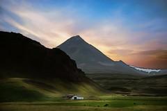 From Iceland. (Tóta. 27.12.1964.) Tags: farm mountain sky clouds grass house iceland ísland