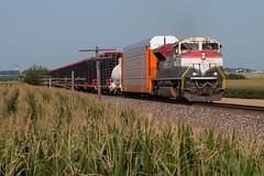 Florida Escapee (Jake Branson) Tags: train railroad locomotive emd sd70m2 fec florida east coast ns lafayette district il illinois corn philo tolono