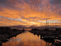 Like in a Dream ... (Adriana 2012) Tags: sunset clouds reflections harbor