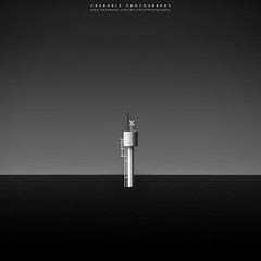 subtlety (azrudin) Tags: minimalist longexposures sky still scapes slowshutter sea minimalism fineart filter squareformat malaysia melaka monochrome beach blackwhite bw110