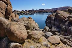 Plus one itty bitty cloud (rocallosa) Tags: landscapes arizona rocks lakes clouds