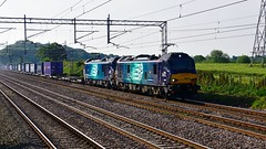 88010 & 88004 (Martin's Online Photography) Tags: class88 drs 88004 88010 tesco daventry mossend actonbridge rail train locomotive electris nikon nikond7200