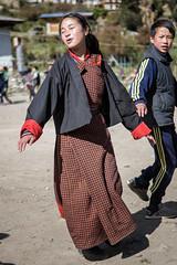 Traditional dance class in the Laya schoolyard - Gasa District - Snowman Trek - Bhutan (PascalBo) Tags: nikon d500 asie asia southasia asiedusud drukyul drukgyalkhap bhutan bhoutan འབྲུག་ཡུལ། འབྲུག་རྒྱལ་ཁབ་ snowman trek trekking hike hiking lunana gasa himalaya himalayas jigmedorjinationalpark laya layap people kid child enfant girl fille school outdoor outdoors pascalboegli