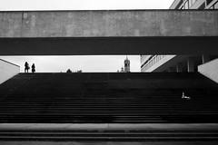 on top (maekke) Tags: zürich enge architecture humanelement woman women lines streetphotography fujifilm x100t 35mm bw noiretblanc 2008 ch switzerland